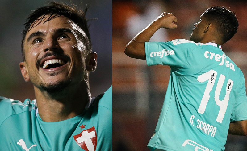 Willian e Gustavo Scarpa do Palmeiras