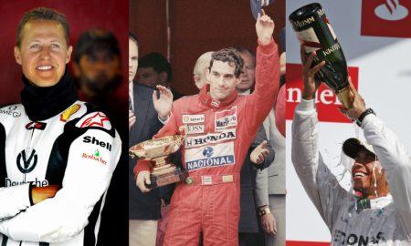Schumacher, Senna, Hamilton da F1