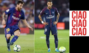 Neymar do PSG e Messi do Barcelona