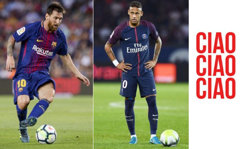 Neymar do PSG e Messi do Barcelona
