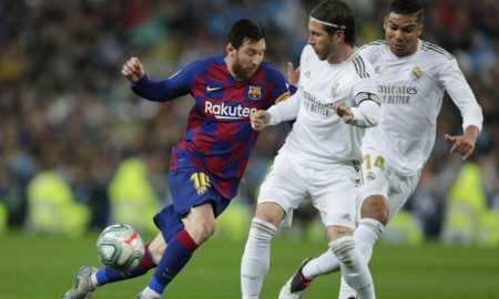 Messi do Barcelona contra Real Madrid