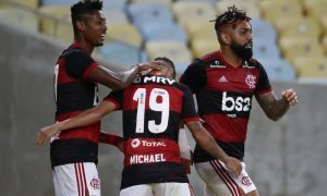 Bruno Henrique Michael e Gabigol do Flamengo