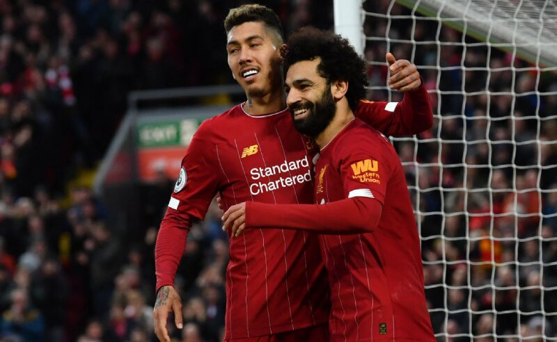 Firmino e Salah do Liverpool