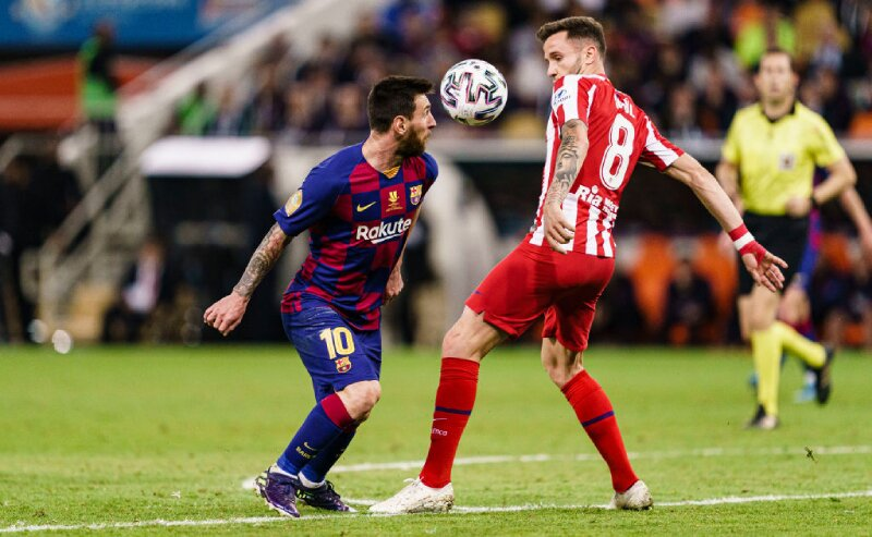 Messi do Barcelona contra Atlético de Madri