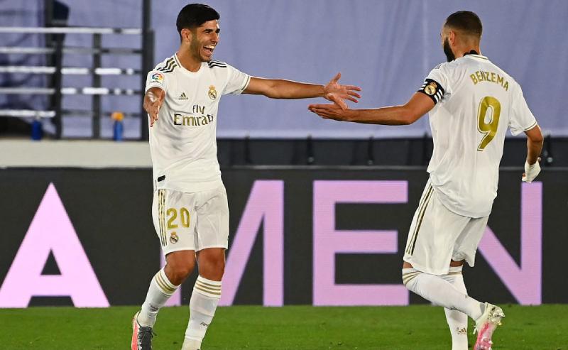 Asensio e Benzema do Real Madrid