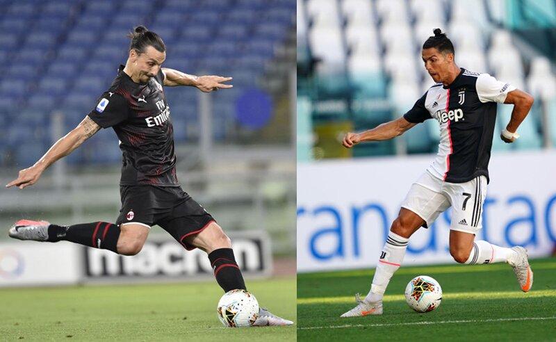 CR7 da Juventus e Ibrahimovic do Milan