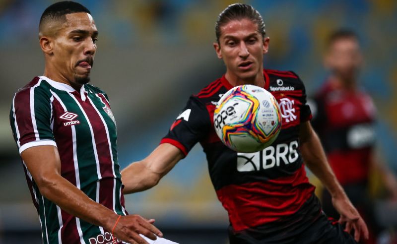 Gilberto do Fluminense Felipe Luis do Flamengo