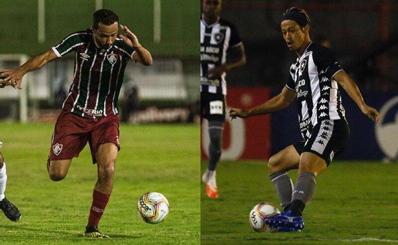 Nene do Fluminense e Honda do Botafogo