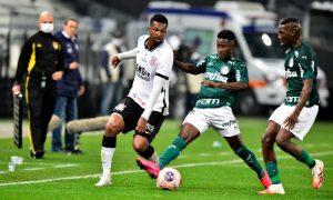 Jo do Corinthians Ivan e Patrick do Palmeiras