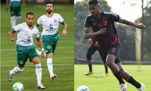 Douglas Baggio do Goiás e Abner do Athletico-PR