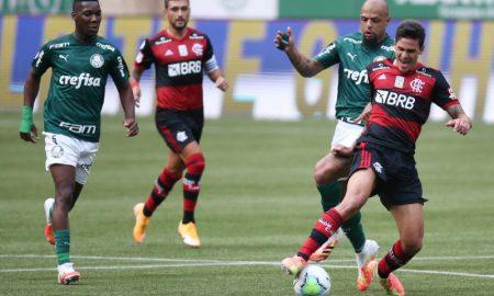 Felipe Melo do Palmeiras e Pedro do Flamengo