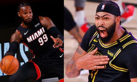 Jae Crowder do Miami Heat e Anthony Davis do Los Angeles Lakers