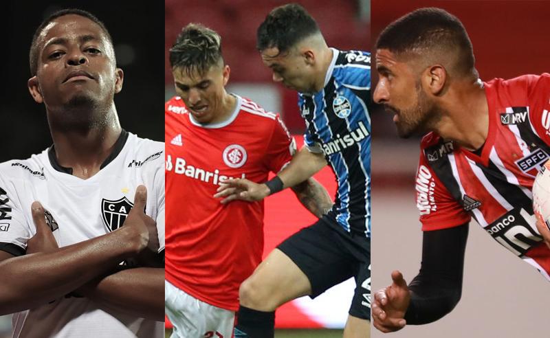 Keno Atlético-MG Renzo Saravia Inter Pepe Gremio Santiago Trelles São Paulo