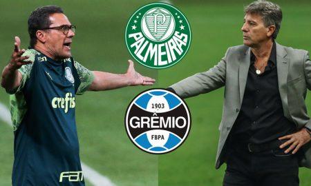 Luxemburgo do Palmeiras e Renato Gaúcho do Grêmio