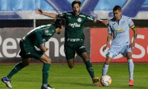 Matias Viña e Gustavo Gomez do Palmeiras