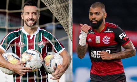 Nene do Fluminense e Gabigol do Flamengo