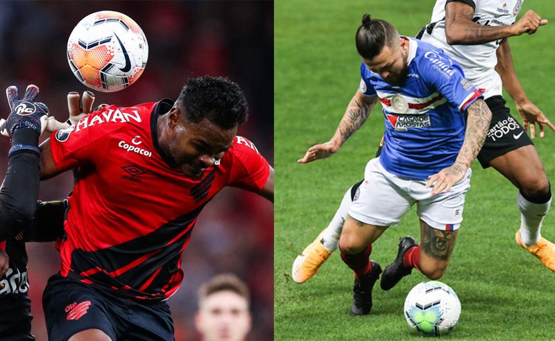 Nikao do Athletico-PR e Rossi do Bahia