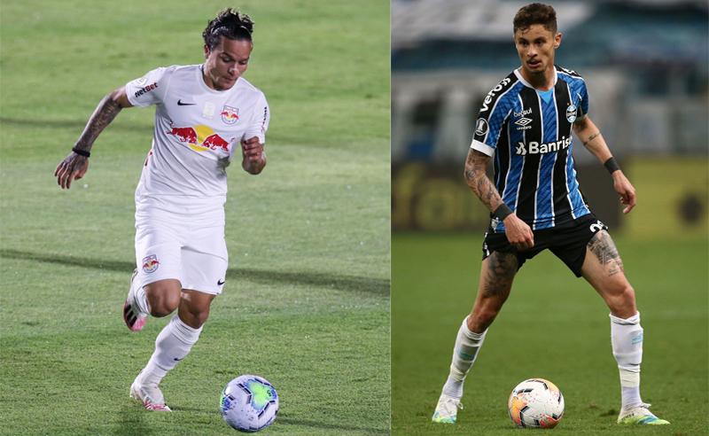 Artur do RB Bragantino e Diogo Barbosa do Grêmio