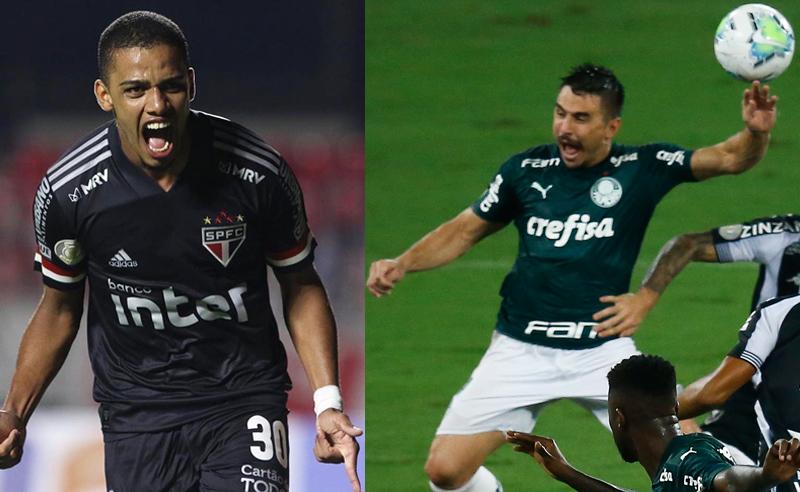 Brenner do São Paulo e Willian do Palmeiras