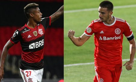 Bruno Henrique do Flamengo e Thiago Galhardo do Internacional
