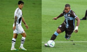 German Cano do Vasco e Matheus Vital do Corinthians