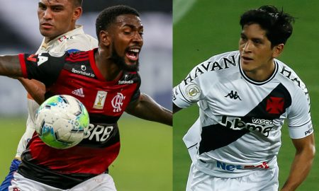 Gerson do Flamengo e Cano do Vasco
