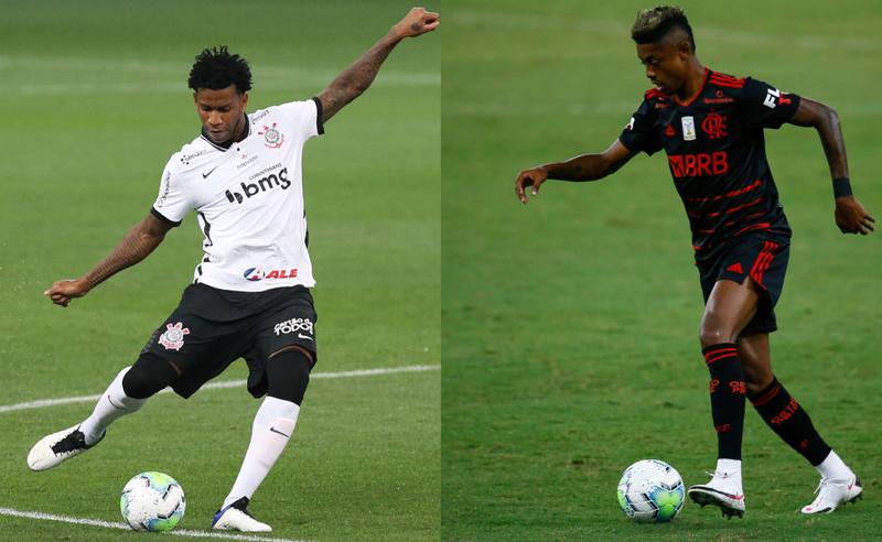 Gil do Corinthians e Bruno Henrique do Flamengo