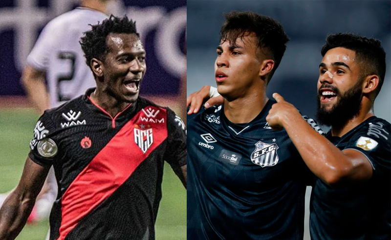 Hyuri do Atlético-GO e Kaio Jorge do Santos
