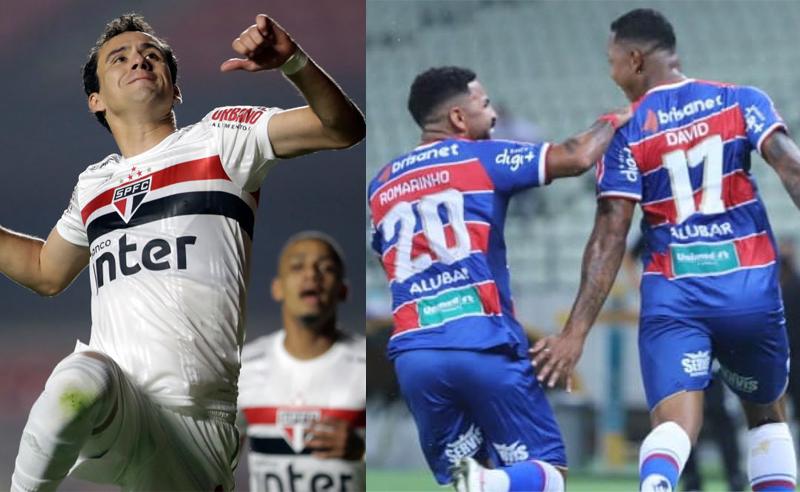 Pablo do São Paulo Romarinho e David do Fortaleza