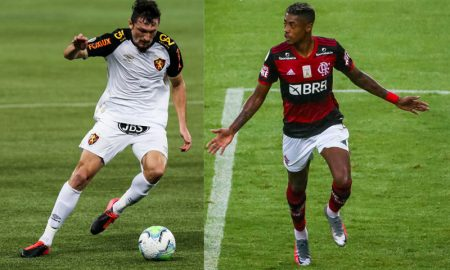 Sander do Sport-RE e Bruno Henrique do Flamengo