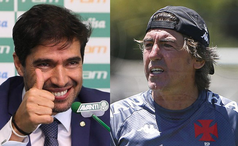 Abel Ferreira do Palmeiras e Ricardo Sa Pinto do Vasco