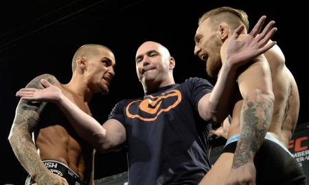 Conor McGregor e Dustin Poirier se encaram antes de luta no UFC 178