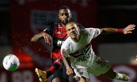 Dani Alves do SPFC e Gerson do Flamengo