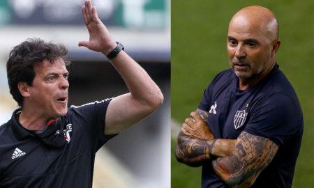 Fernando Diniz do São Paulo e Sampaoli do Atlético-MG