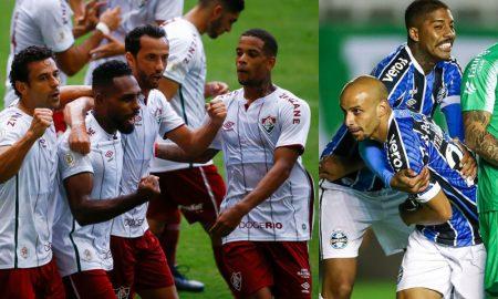 Fred Nenê Luccas Claro do Fluminense Jean Pyerre Thaciano Silva do Grêmio