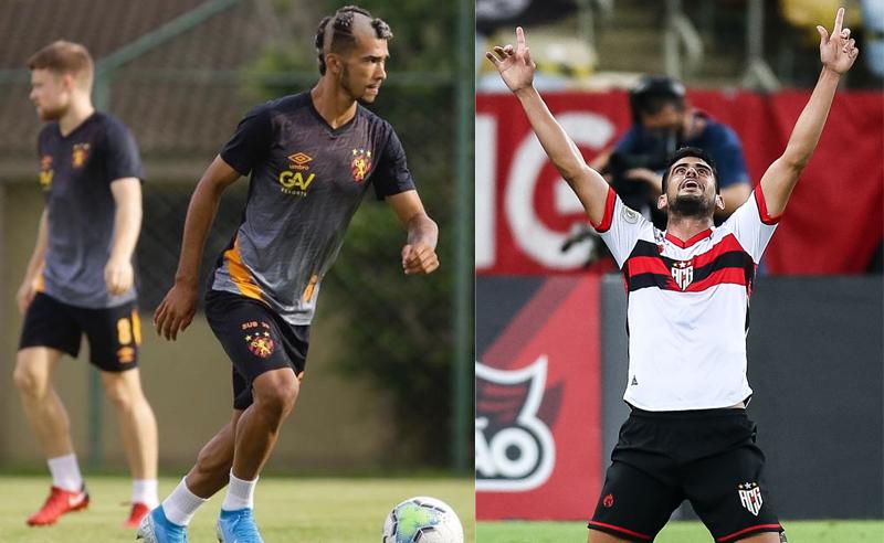Gustavo do Sport-RE e Roberto do Atlético-GO