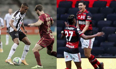 Keno Atlético-MG Pedro e Bruno Henrique do Flamengo