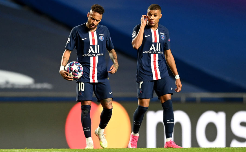 Neymar e Mbappe do PSG