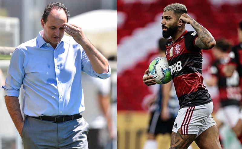 Rogerio Ceni e Gabriel Gabigol Barbosa do Flamengo