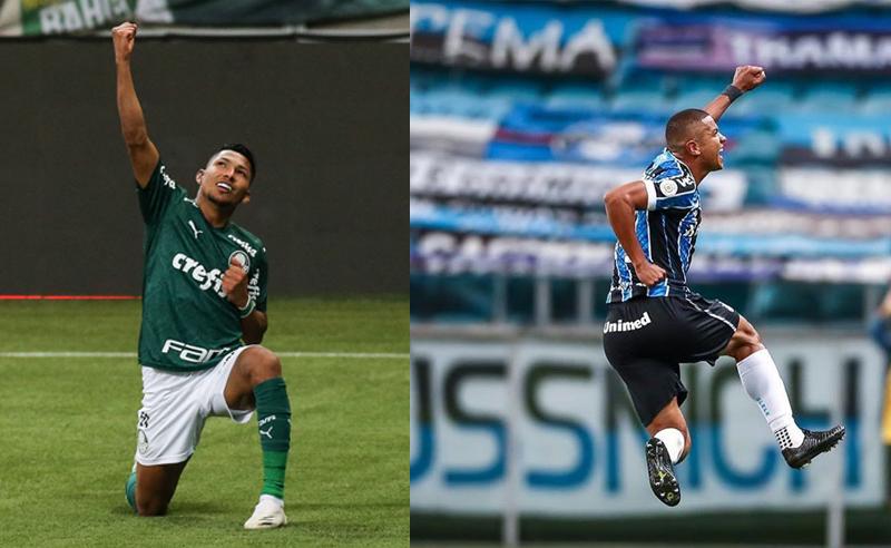 Rony do Palmeiras e David Braz do Grêmio