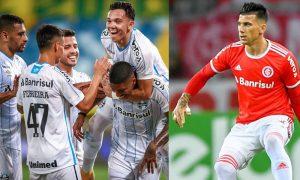 Time do Grêmio e Cuesta do Internacional