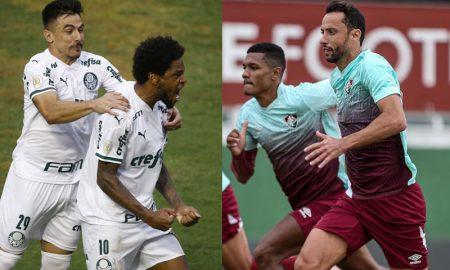 Willian e Luiz Adriano do Palmeiras Nenê do Fluminense
