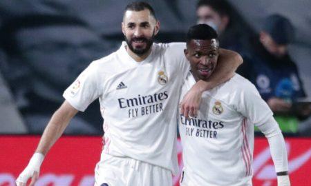 Benzema e Vinicius Junior do Real Madrid
