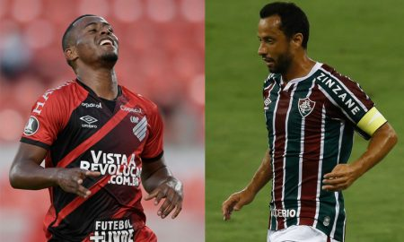 Carlos Eduardo do Athletico-PR e Nenê do Fluminense