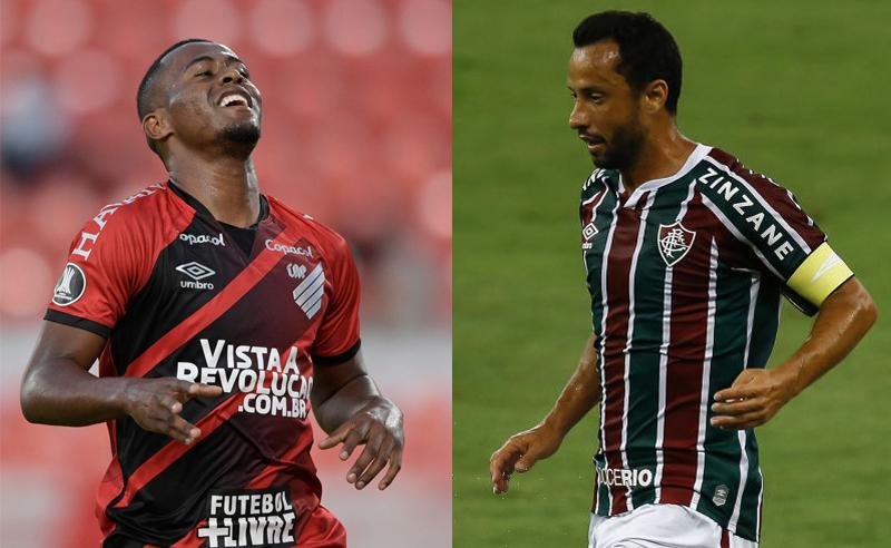 Carlos Eduardo do Athletico-PR e Nenê do Fluminense