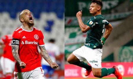 D'Alessandro do Internacional e Gabriel Menino do Palmeiras