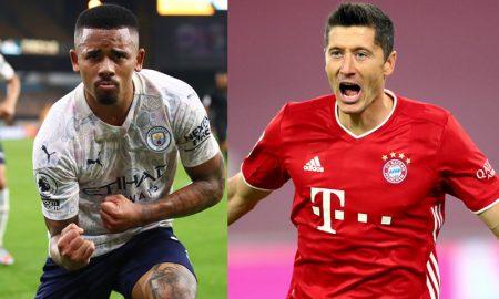 Gabriel Jesus do Manchester City e Lewandowski do Bayern de Munique