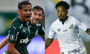 Gabriel Menino do Palmeiras e Marinho do Santos