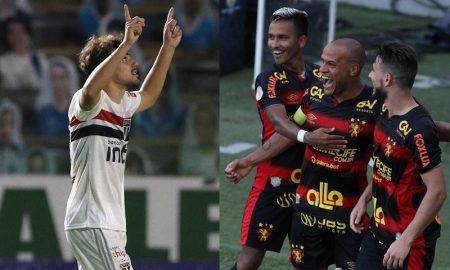 Igor Gomes do São Paulo e time do Sport-RE