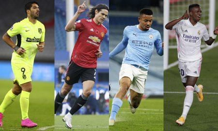Suarez, Cavani, Gabriel Jesus, Vinicius Junior